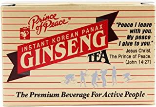 Korean Ginseng Instant Tea Prince Of Peace 10 Bag