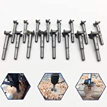 Forstner Drill Bit Sets,16 Pcs Tungsten High Speed Steel Wood Working Hole Cutter Titanium Coated Wood Boring Hole Drilling Sets with Round Shank 19/32