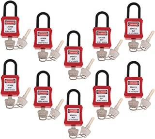 KESOTO 10x Small Padlocks Lock For Handbag Luggage DIY - Red