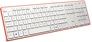 BFRIENDit Wired USB Keyboard, Comfortable Quiet Chocolate Keys, Durable Ultra-Slim Wired Computer Keyboard for PC, Windows...