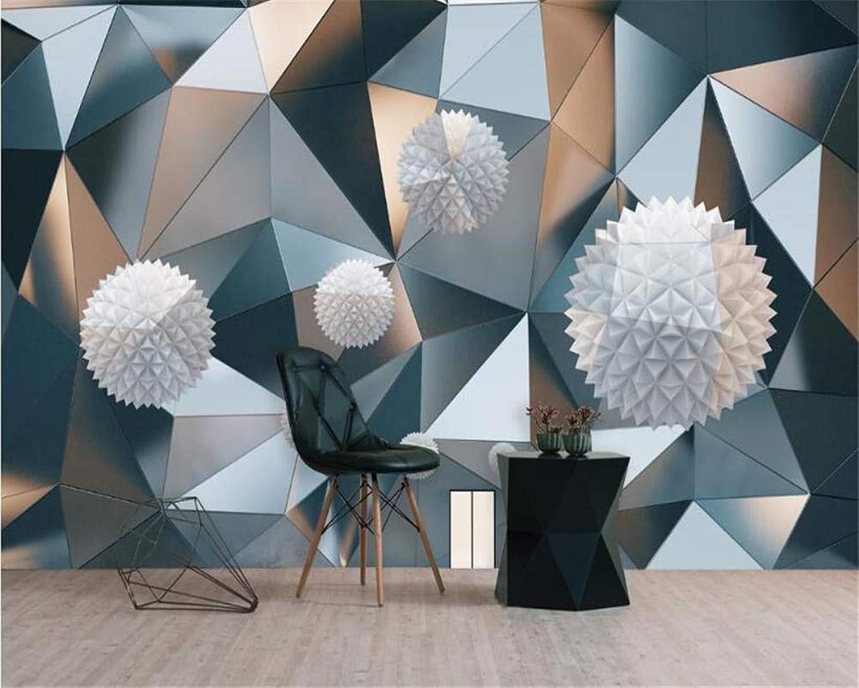 Mbwlkj Ornamento Clásico Moderno De La Pintura Del Papel Pintado 3D Esfera Flotante Patrón Geométrico Fondo Gráfico Papel Tapiz 3D Tapety-200cmx140cm
