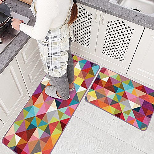 "Ustide Colorful Fashion Design Doormat for Indoor Outdoor Kitchen Hallway Entry,19.7""x31.5"""