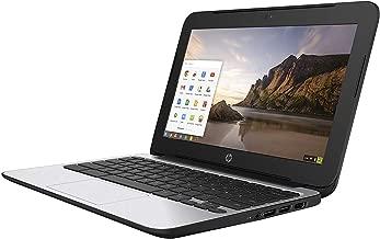 HP ChromeBook 11 G4 EE: 11.6-inch (1366x768) | Intel Celeron N2840 2.16GHz | 16GB eMMC SSD | 2GB RAM | Chrome OS - Black (Renewed)
