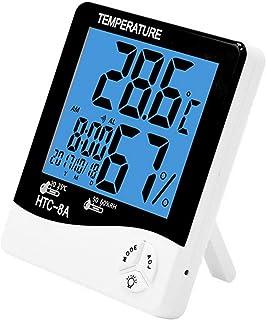 XYXZ Termómetro De Habitación Higrómetro Estación Meteorológica Interior Exterior Digital LCD C/F Temperatura Medidor De H...