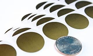 My Scratch Offs 1 Inch Gold Round Scratch Off Sticker Labels - 500 Pack