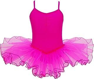 38f5f75d10b2f YiZYiF Enfant Fille Justaucorps de Danse Tutu Robe Ballet Gymnastique  Léotard Patinage Body Combinaison Sport Yoga
