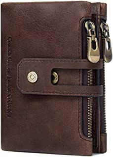 Contacts Leather Brown RFID Blocking Men's Wallet