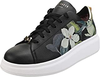 Ted Baker Ailbe Womens Black Opal Leather Trainers