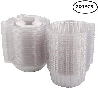 GOTOTOP Recipiente de plástico, 200Unidades envases Desechables de plástico Comida de café Recipientes para conservar en Nevera frutt, Pasta y Ensalada y utilizables