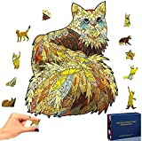 LTYH Unique Wooden Puzzles,Family Game Play Collection Home Decor Toys,Unique Home Decoration and Puzzle Toys, Best for Family Game Play Collection (Kat,A5)