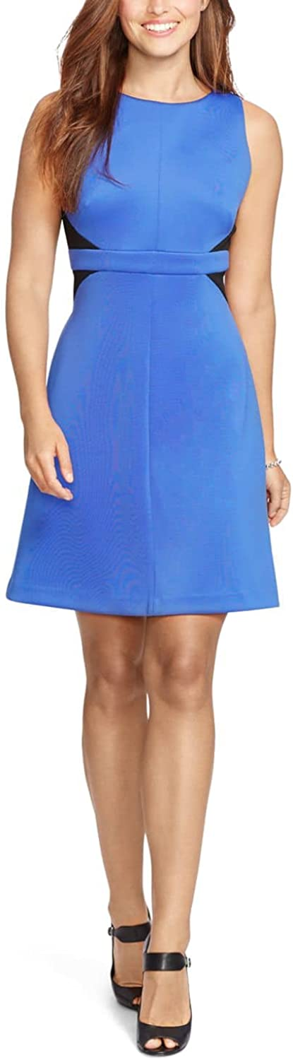 American Living TwoToned Ponte Dress bluee 18