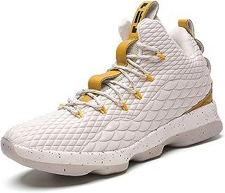 Scarpe Uomo da Pallacanestro Leggere Basket Sneakers Alte Sportive Esterno Grandi Calzature da Corsa Nero Rosso Champagne ...