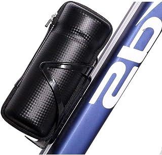 Naisicatar Montar Bicicleta Ciclismo Botella de Almacenamiento Bolsa de Cierre de Herramientas de reparación Bicicleta cápsula, Negro, Una Talla