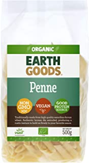 Earth Goods Organic Penne Pasta, NON-GMO, Vegan, Good Protein Source 500g