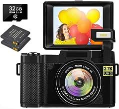 Digital Camera 30.0 MP Vlogging Camera 2.7K Full HD Vlog...