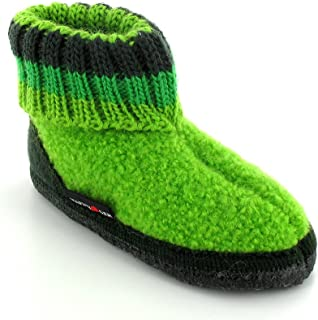 Boiled Wool Slipper Boot | Paul, Green