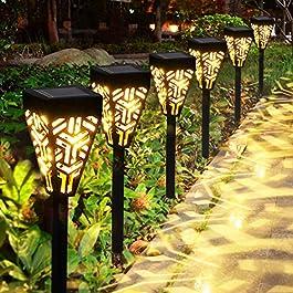 Lampes Solaires Jardin GolWof 6 Pièces Éclairage Solaire Extérieur Étanche Lumière Solaire Extérieure à LED Éclairage…
