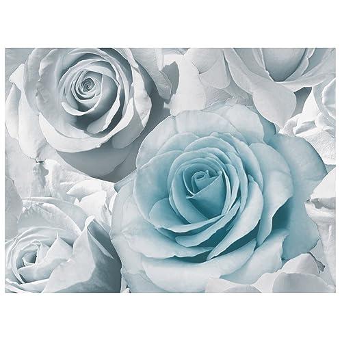 Blue Flower Wallpaper: Amazon.co.uk