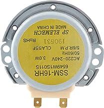 Cikonielf Placa giratoria de microondas de Aluminio para 6549W1S011S SSM ‑ 16HR Motor síncrono de Horno de microondas AC 220‑240V