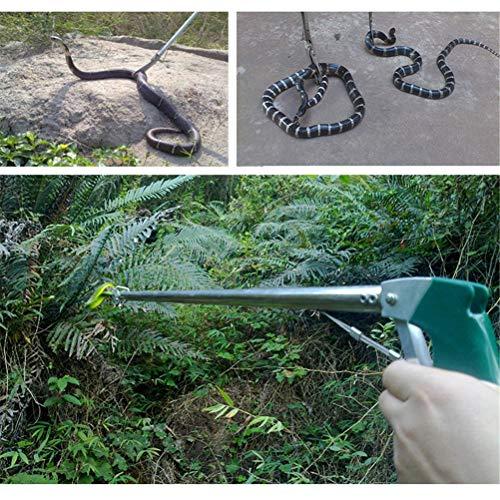 Dbtxwd Serpiente Catcher Acero Inoxidable Mandíbula Ancha Pinzas de Serpiente retráctiles Herramienta de Entrega Reptiles Catcher Clamp Grabber Lock,NotFolding100cm