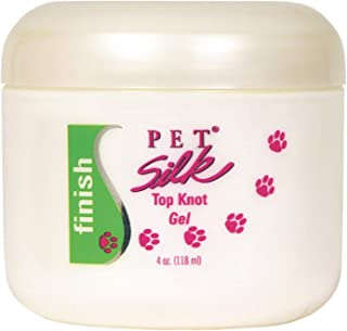 Pet Silk Top Knot Gel (4 Ounce) - Pet Hair Gel for Taming Frizzy Hair & Controlling Flyaways – Dog Anti-Static Lotion Cream with Floral Fragrance – Eliminates Static Charges