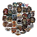 100 PCS Motorcycle Mens Adults Sticker Pack, No Repeat Halley Davidson Computer Bumper Stickers for Motorcycle Laptop Van Truck Skateboard ATV Car Bike by Fortfy