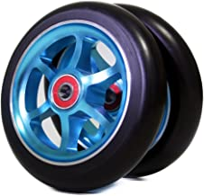 Z-FIRST 2Pcs 120mm Pro Scooter Wheels with ABEC 9 Bearings for MGP/Razor/Lucky Pro Scooters (6 Spoke)