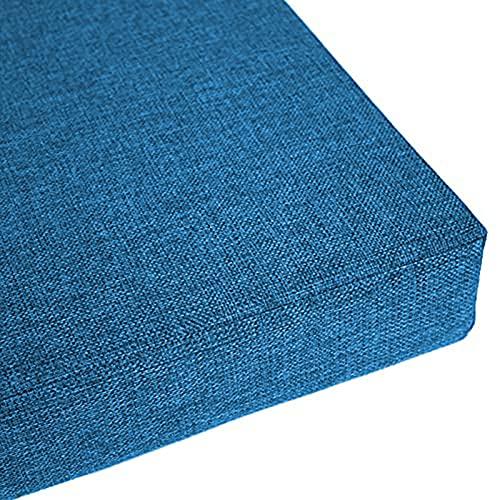 YuYiY - Cuscino per panca da giardino a 2/3 posti, con fondo antiscivolo, lunghezza 3/5 cm di spessore, per patio, ufficio, finestra a baia, balcone (blu, 140 x 40 x 5 cm)