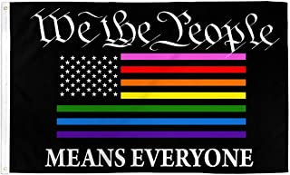 AZ FLAG We The People Rainbow Flag 3' x 5' - Gay LGBT American Flags 90 x 150 cm - Banner 3x5 ft
