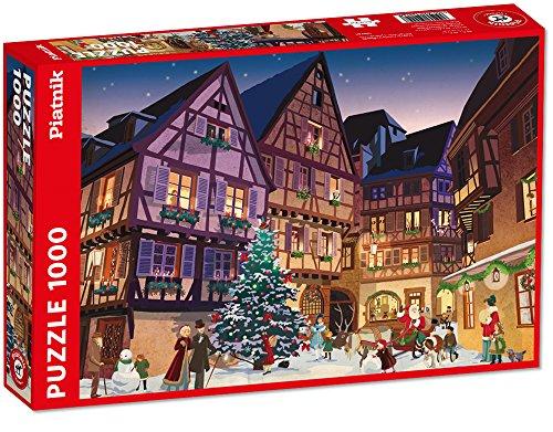 Piatnik 5442–Vintage Natale Villaggio, Puzzle da 1000Pezzi