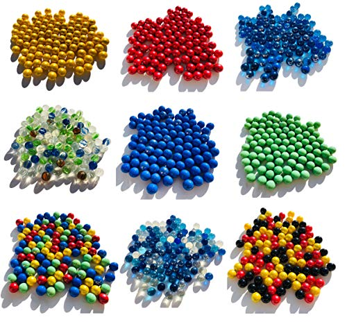 Diverse glasmurmels, murmels, 500 g, ca. 95 stuks 16 mm glazen stenen Murmel Vaas Vullingen blauwe gouden rode groene Murmeln rood blauw helder goud Dekoschalen Murmelspel glas (rood)
