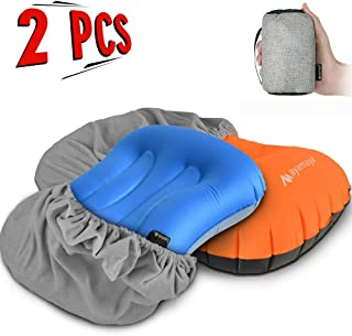 CicoYinG Ultralight Inflatable Camping Pillows Ergonomic Pillow Support for Sleeping While Hiking Inflatable Camp,Beach Comfortable Compressible and Compact Travel