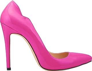 Vimedea Womens Pointed Toe Slip On Heeled Fashion Pumps Wedding Bride OL Dress Shoes