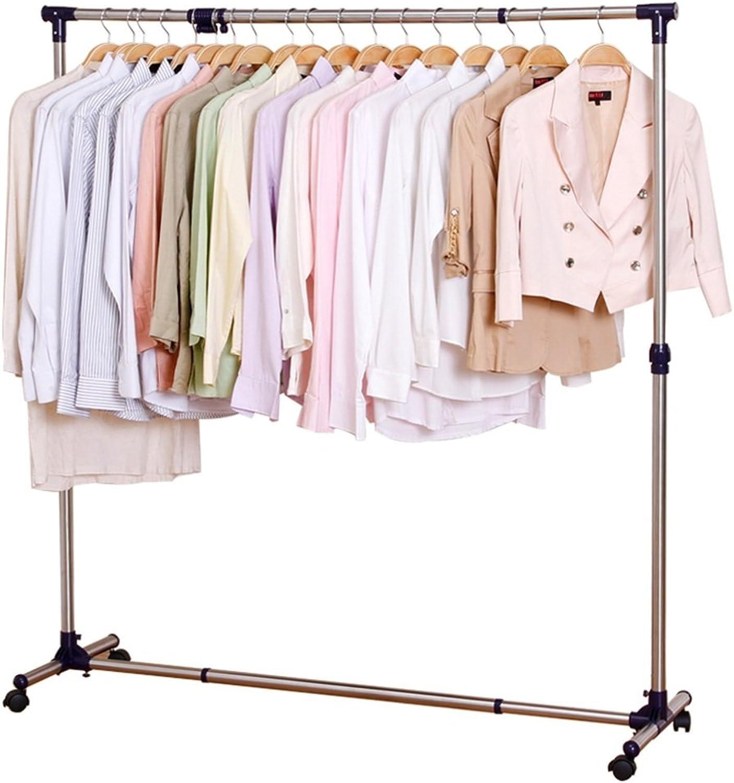 JIANFEI Home Floor Standing Coat Rack Hat Stand Hanger Racks Scalable Height Adjustable High Capacity, Stainless Steel