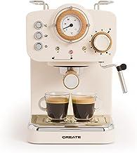 IKOHS THERA Retro, Express-koffiezetapparaat voor espresso en cappuccino, 1100 W, 15 bar, zwenkbaar stoommondstuk, capacit...