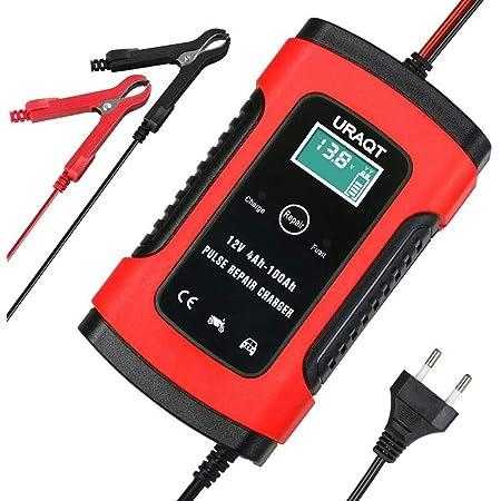 Uraqt Autobatterie Ladegerät Car Battery Charger 6a 12v Erhaltungsladegerät Batterieladegerät Batterie Desulfator Mit Mehrfachschutz Für Auto Motorrad Rasenmäher Oder Boot Auto
