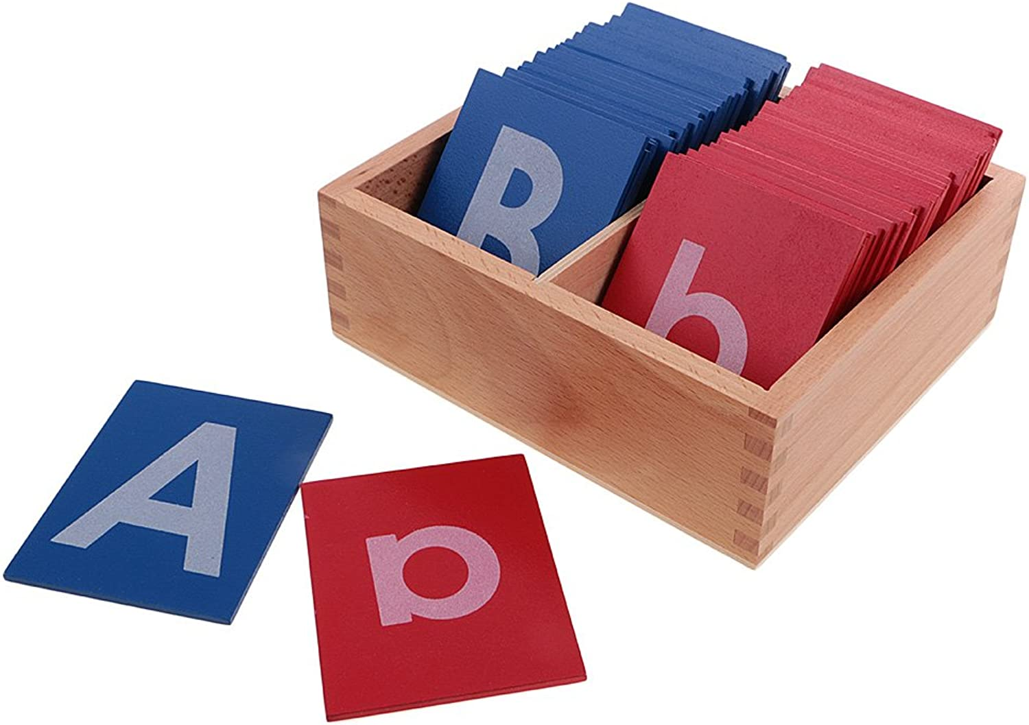 MagiDeal Kids Montessori Materials Alphabets Box a-z A-Z Letter for Composing Words