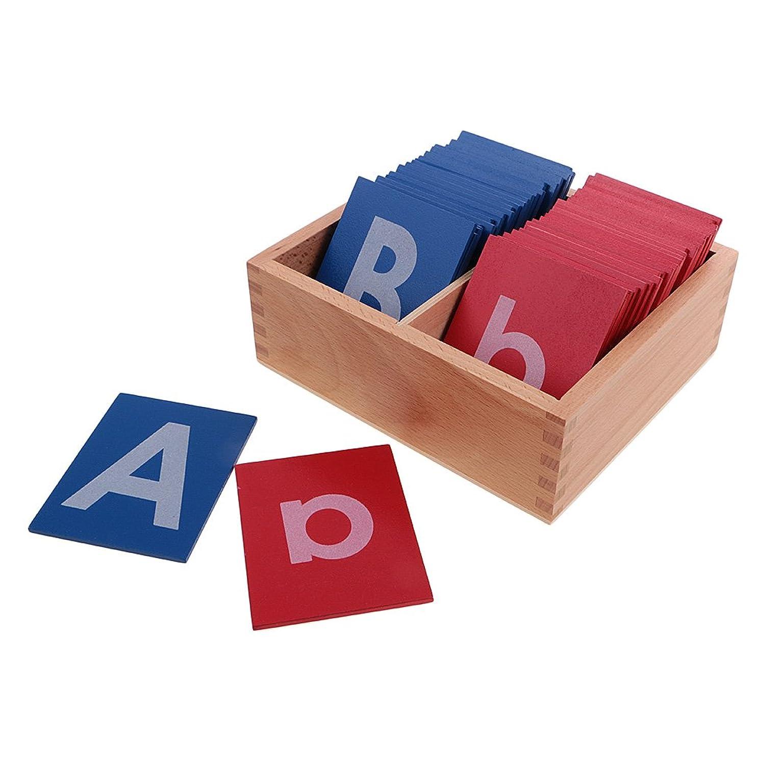 脅威カスケード震えるFenteer アルファベット フラッシュカード ワードカード キッズ向け 初期教育 木製