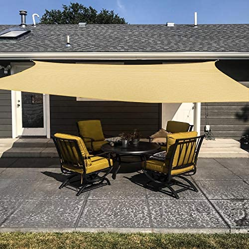 MR COVER Sun Shade Sail Rectangle 12 x 16 Sun Blocking Canopy Sail for Patios Lawn Porch Deck product image