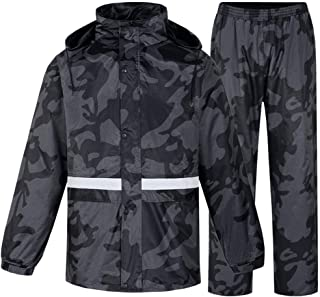 I will take action now Raincoats Men'S Camouflage Set Raincoat - Waterproof And Windproof Breathable Raincoat Safety Reflective Eco-Friendly Fabric Reuse Shooting Camping Multiple sizes I will take ac