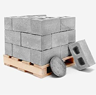 Erwazi Mini Cement Bricks Toy, 32 Packs Builders Set for Construction and Stacking Building Blocks for Kids, Adults Kids Funny Desk Stacking Toys, Builds Your Own Tiny Wall