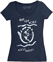 Out of Print Women's Dystopian Classics Book-Themed Scoop Neck Tee T-Shirt