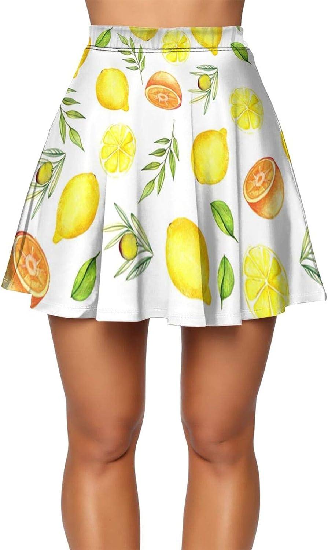 Women's Basic Versatile Stretchy Flared Casual Mini Skater Mini Skirt