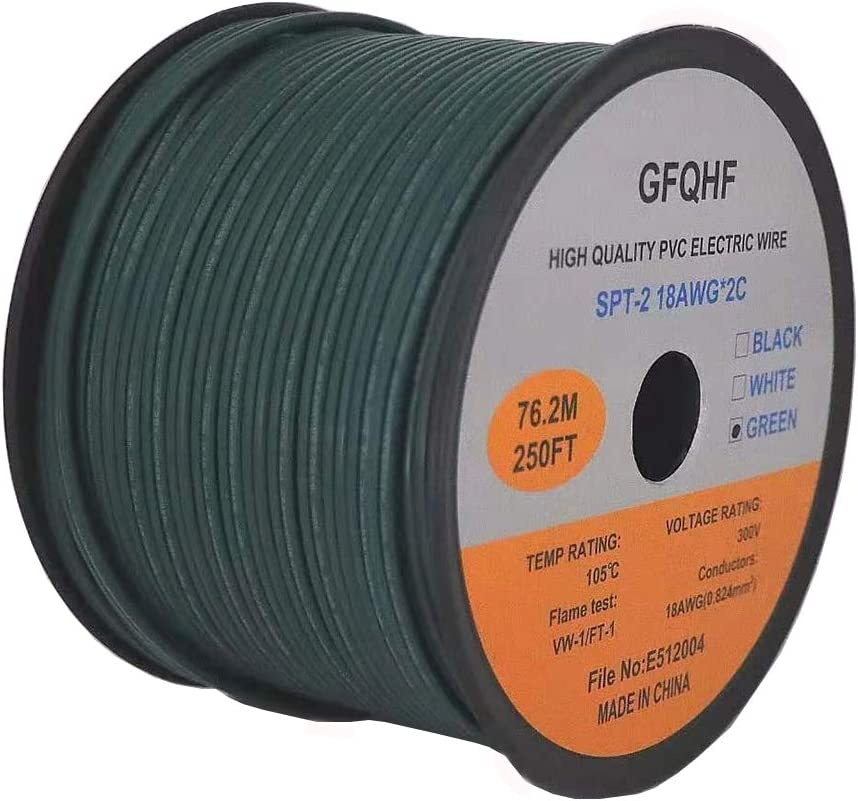 GFQHF UL Long-awaited Listed SPT-1 2 Zip Cord 18 Electrical Quantity limited Extension Wire