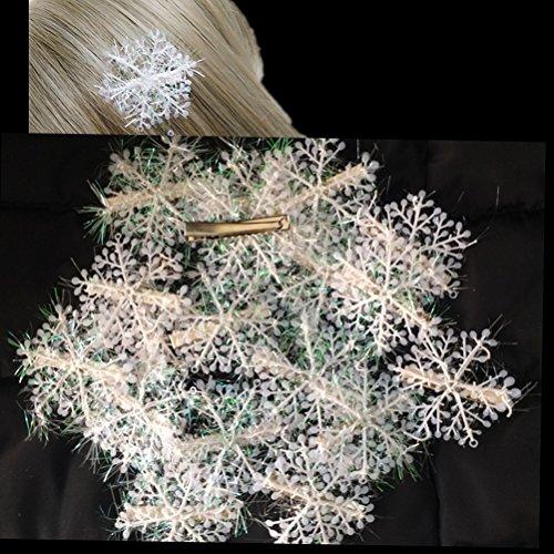 Cuhair, Haarspangen mit Schneeflocken-Motiv, 20Stück