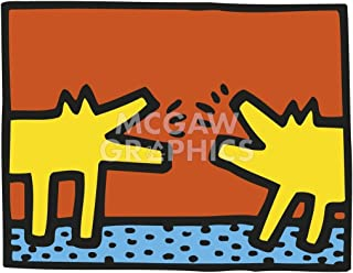 Untitled, 1989 (dogs) by Keith Haring, Art Print Poster 14