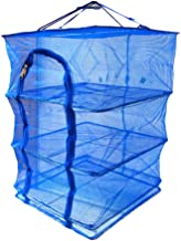 LIOOBO Drying Net Basket Foldable Hanging Square Mesh Dryer Food Meal Protection Screen Fish Dehydrator Mesh for Home