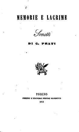 Memorie e lacrime, sonetti