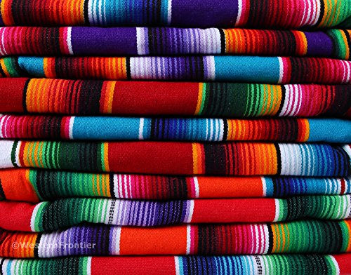 El Paso Designs Mexikanische Saltillo Serape-Decke, extragroß, Rot