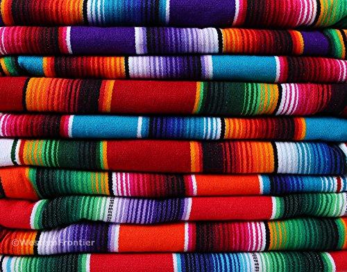 El Paso Designs Extra Groß mexikanischen Saltillo SARAPE Decken, rot